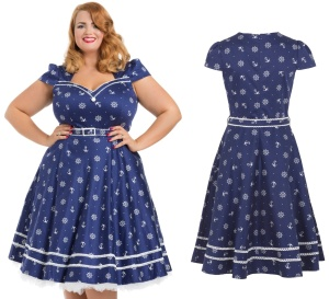 Rockn Roll Kleid Nautical Dress Voodoo Vixen Plussize