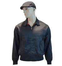 Warrior Clothing Harrington Jacke Sommerjacke mit karriertem Innenfutter