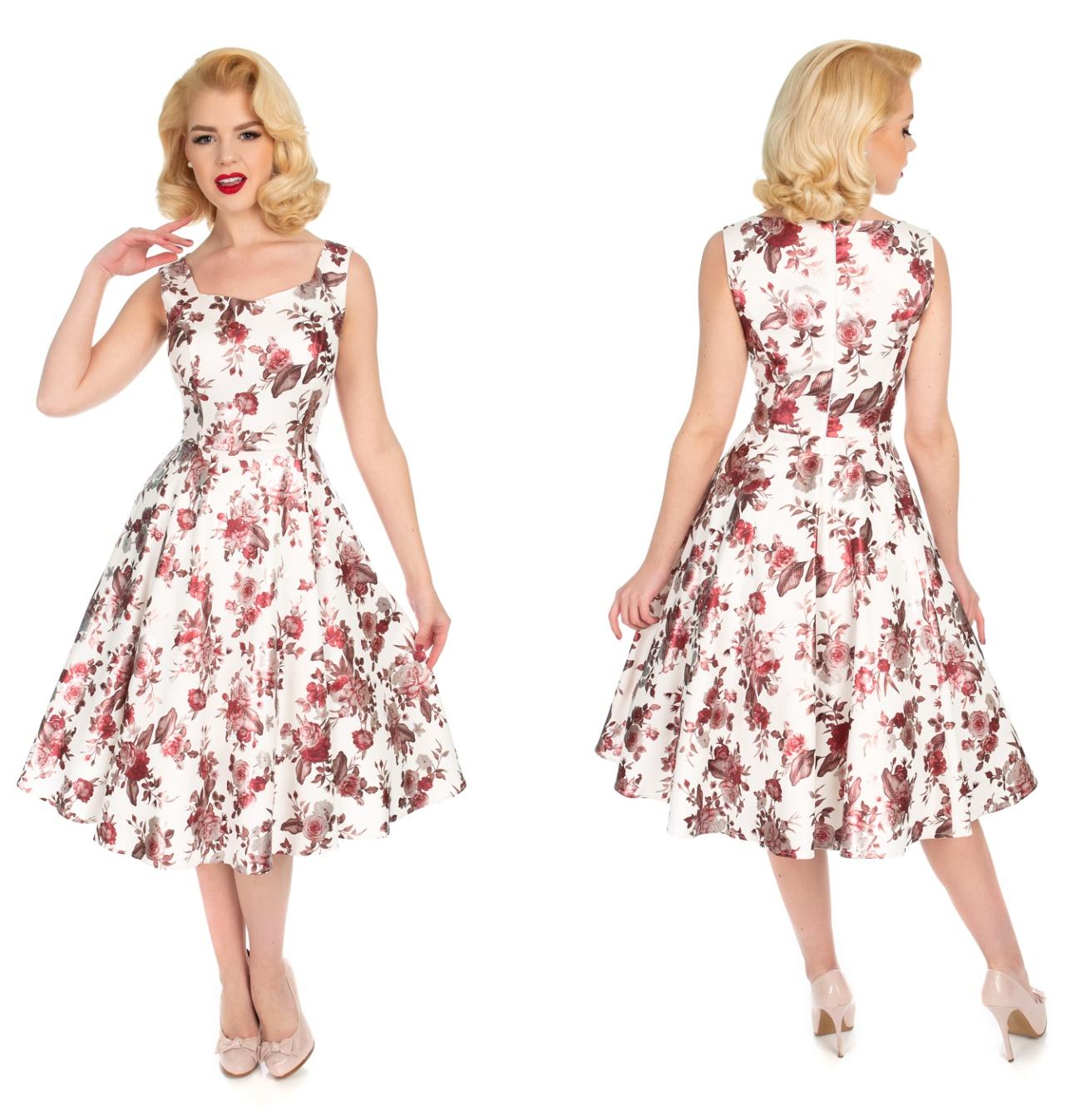 fe828e15fde4 Rock n Roll Kleid mit Metallic Rosen - Heart&Roses bei Shopbay Streetwear