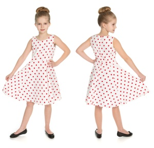 Kinder Rock n Roll Kleid Polka Dot Swing Dress