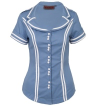Damenbluse Sixties Sailor Voodoo Vixen