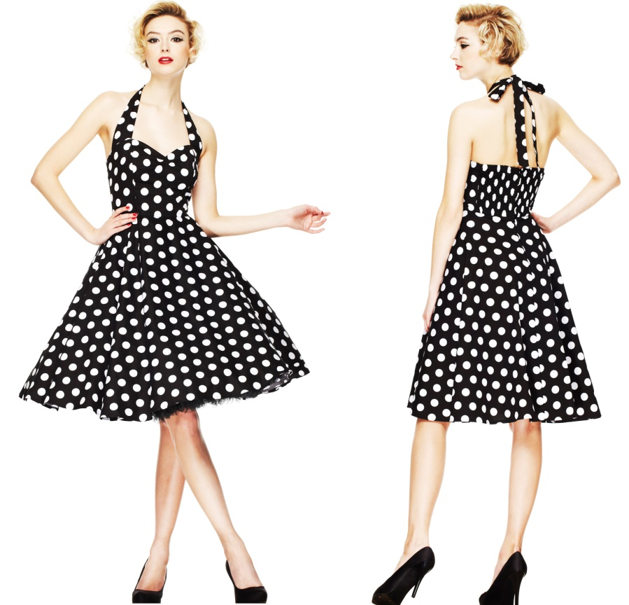 c2a30252ca70 Rock N Roll Kleid Punkte Rockabilly Boogie Dress - Hellbunny bei Army Shop  - www.armydepot-chemnitz.de