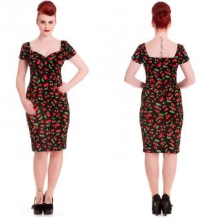 Pencil Dress Kirschen Vintagekleid Hellbunny Rockabilly