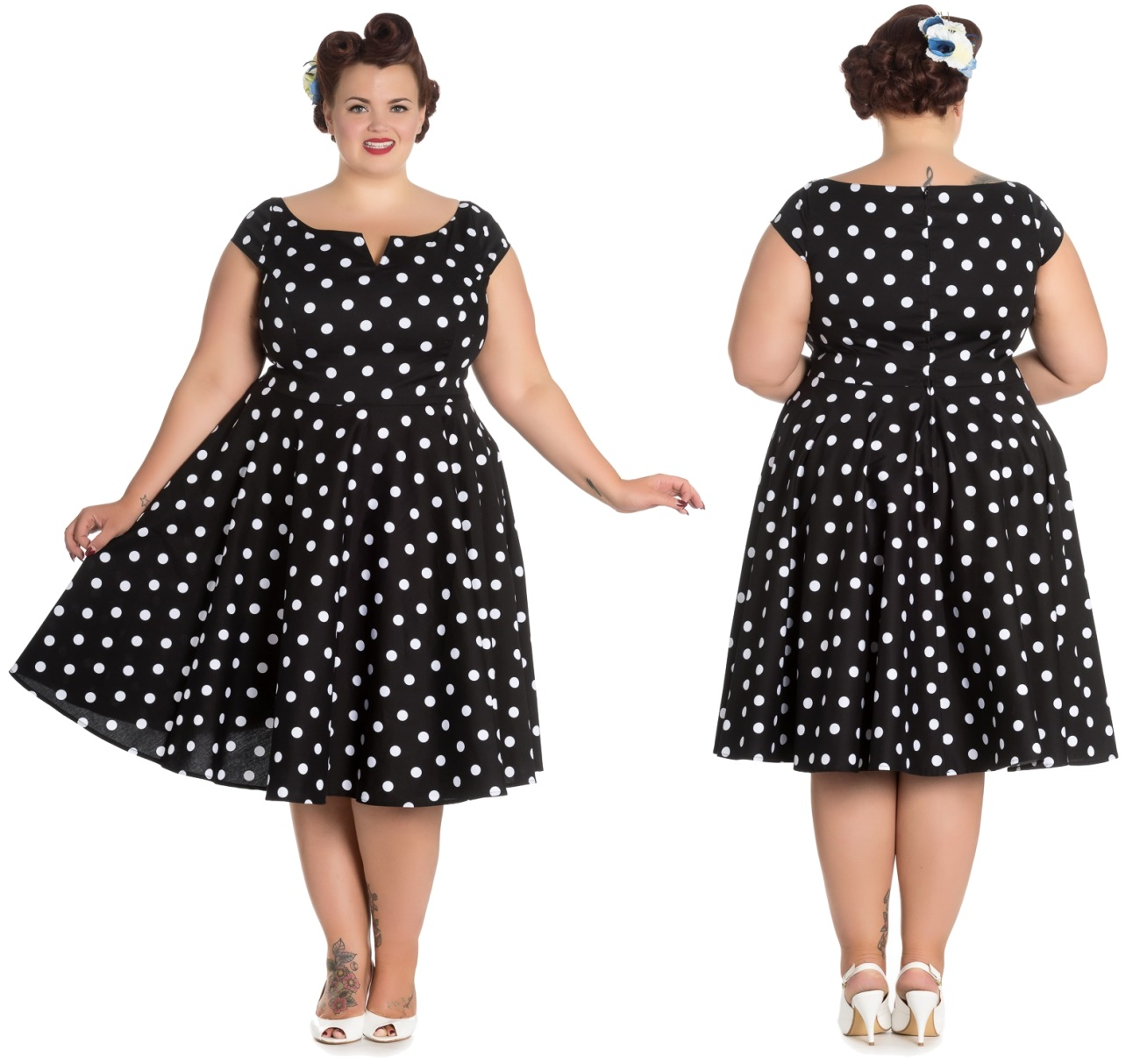3b1418847180 Nicky Dress Rockn Roll Kleid Rockabilly Kleid Hellbunny Plus - Hellbunny  bei Army Shop - www.armydepot-chemnitz.de