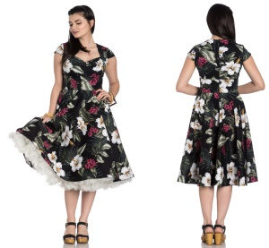 Kalei Dress Rock n Roll Kleid Blumenmuster Hellbunny