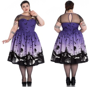 Gothickleid Swingkleid Haunt Dress Hellbunny Plussize