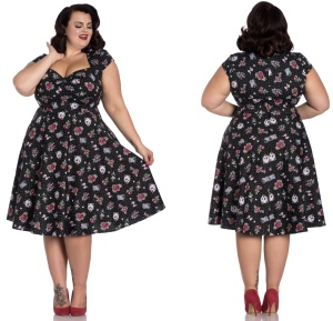 Stevie Dress Rock n Roll Kleid Rockabilly Kleid Übergrösse Hellbunny