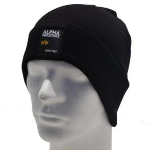 Alpha Industries Strickmütze Label Beanie