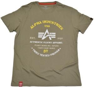 Alpha Industries T-Shirt Authentic Print T