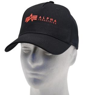 Alpha Industries Cap roter Logo Druck