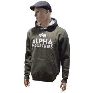 Alpha Industries Kapuzensweatshirt Foam Print in oliv