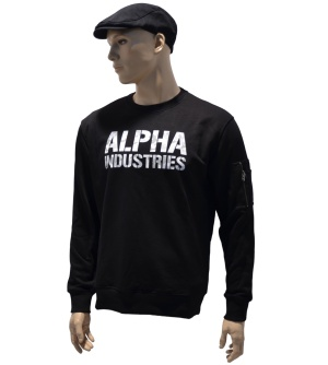 Alpha Industries Sweatshirt Camo Print whitecamo Alpha Logo