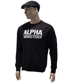 Alpha Industries Sweatshirt Camo Print whitecamo Alpha Logo