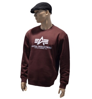 Alpha Industries Sweatshirt Basic in burgundy