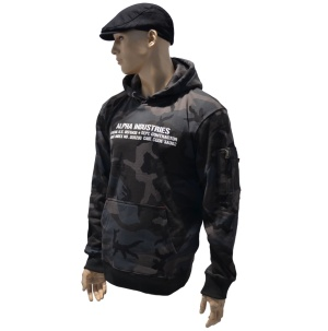 Alpha Industries Kapuzensweatshirt Cargo Rubber Print