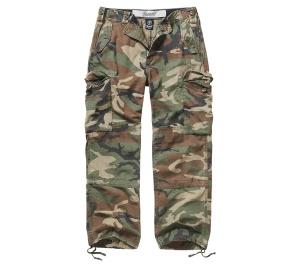 Brandit Hudson Ripstop Trouser lange Cargo-Hose im Armystyle mit Seitentaschen