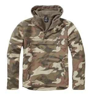 Brandit Windbreaker mit Fleecefutter in light woodland tarn