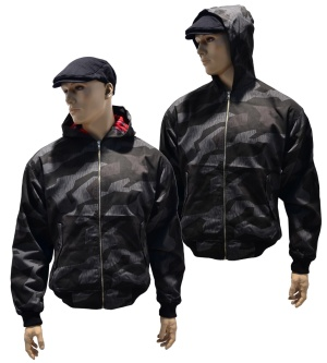 Hooded Harrington Style Jacke in camo