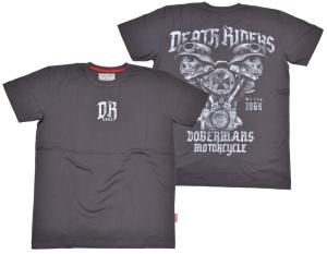 Dobermans Aggressive T-Shirt Death Riders V2 Motor mit zwei Skulls