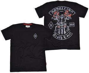 Dobermans Aggressive T-Shirt Death Rider V Konförderierten Fahne
