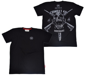 Dobermans Aggressive T-Shirt Combat 44 Totenkopf Motiv