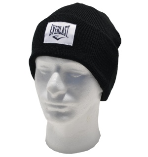 Everlast Strickmütze mit Logo Patch