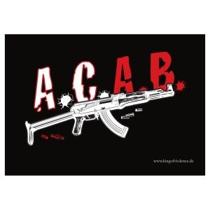Aufkleber ACAB AK 47 - gratis