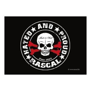 Aufkleber Rascal Skull - gratis