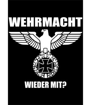 Aufkleber Wehrmacht Wieder mit - gratis
