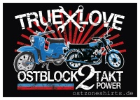 Aufkleber True Love Ostblock 2 Takt Power - gratis