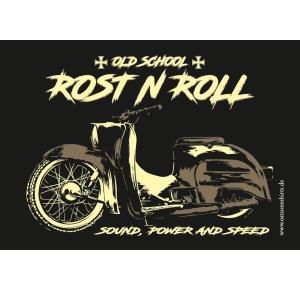 Aufkleber Rost N Roll Old School Sound Power and Speed - gratis