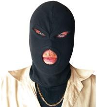 Balaclava Sturmhaube 3Loch dünn Ninja in schwarz