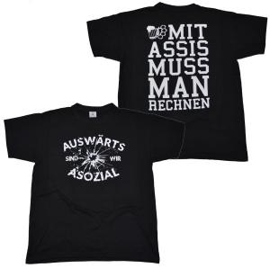T-Shirt Auswärts ist man asozial RU