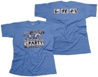 T-Shirt Saufen Prügeln im Osten heißt das Party!
