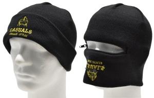Zip Hat Casuals Sturmhauben-Strickmütze
