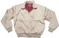 Sommer Jacke im Harrington Style schöne englandstyle Sommerjacke mit karriertem Innenfutter in beige