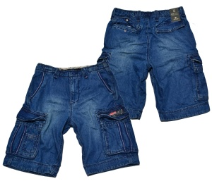 Jet Lag Jeans Short Take Off 8 in denim navy
