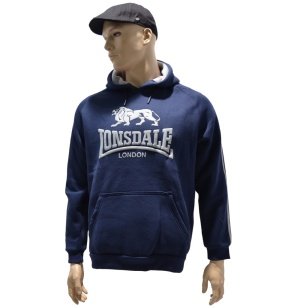 Orginal Lonsdale London Kapuzensweatshirt Lion Classic Logo dunkelblau