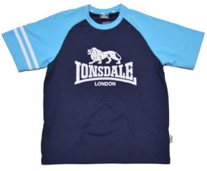 Lonsdale London Kinder T-Shirt Raglan Lion Logo