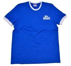 Lonsdale London Ringer T-Shirt in royalblau