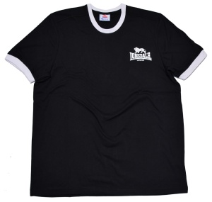 Lonsdale London Ringer T-Shirt in schwarz