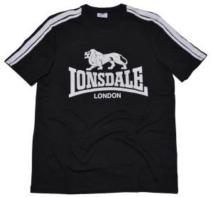 Lonsdale London T-Shirt Lion Logo und Schulterstreifen