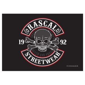 Aufkleber Rascal Skull Motiv