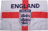Fahne England mit Löwenwappen 3 Lions
