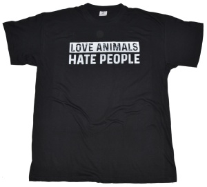 T-Shirt Love Animals Hate People RU