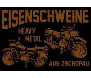 Aufkleber Eisenschweine Heavy Metal aus Zschopau