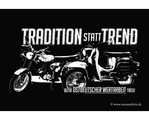 Aufkleber Tradition statt Trend bleib
