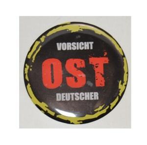 Aufkleber Vorsicht Ost Deutscher