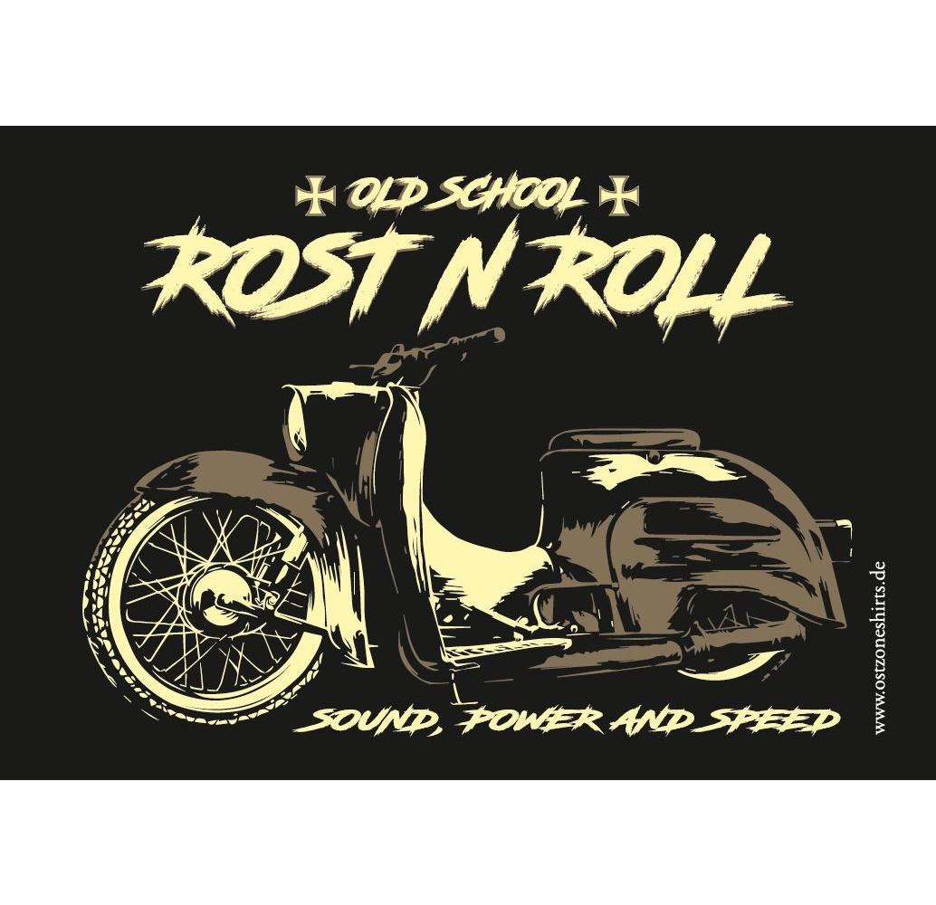 Aufkleber Rost N Roll Old School Sound Power And Speed Simson Shop Bei Ostzone Shop Wwwostzoneshirtsde