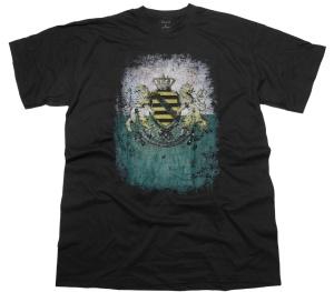 T-Shirt Sachsen mit Sachsen Wappen